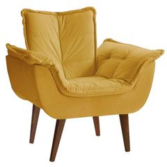 Poltrona-Decorativa-Amarela-com-Pes-Palito-Kay