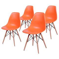 Conjunto-de-4-Cadeiras-de-Jantar-Eames-Wood-Laranja-OR-Design-1102B