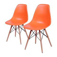 Conjunto-de-2-Cadeiras-de-Jantar-Eames-Wood-Laranja-OR-Design-1102B