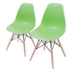Conjunto-de-2-Cadeiras-de-Jantar-Eames-Wood-Verde-Claro-OR-Design-1102B
