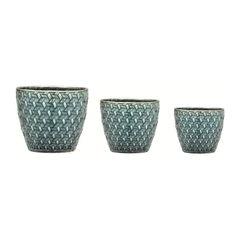 Conjunto-de-3-Cachepots-em-Ceramica-Verde-Sintra-08177-Mart