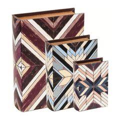 Conjunto-de-3-Caixas-Livro-em-MDF-Mosaic-7822-Mart
