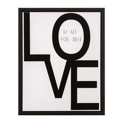 Quadro-Decorativo-Branco-e-Preto-40x50cm-Love-7899-Mart