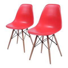 Conjunto-de-2-Cadeiras-de-Jantar-Eames-Wood-Vermelha-OR-Design-1102B