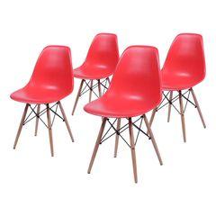 Conjunto-de-4-Cadeiras-de-Jantar-Eames-Wood-Vermelha-OR-Design-1102B