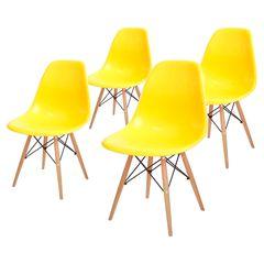 Conjunto-de-4-Cadeiras-de-Jantar-Eames-Wood-Amarela-OR-Design-1102B