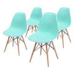 Conjunto-de-4-Cadeiras-de-Jantar-Eames-Wood-Verde-Tiffany-OR-Design-1102B