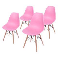 Conjunto-de-4-Cadeiras-de-Jantar-Eames-Wood-Rosa-OR-Design-1102B