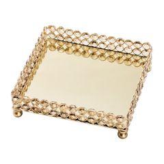 Bandeja-Quadrada-de-Ferro-e-Cristal-Dourado-20cm-Una-Wolff