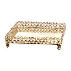 Bandeja-Quadrada-de-Ferro-e-Cristal-Dourado-25cm-Una-Wolff