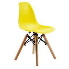 Cadeira-DKR-Wood-Infantil-Amarela-ByArt