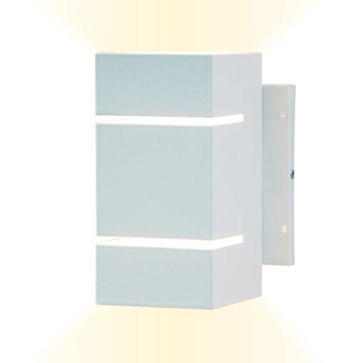 Arandela-Branca-de-Aluminio-Frisada-com-Facho-Duplo-Skylux