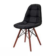 Cadeira-de-Jantar-Eames-Wood-Preta-em-Linho-1114-BE-Or-Design