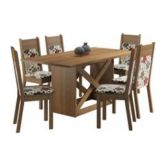 Conjunto-Mesa-de-Jantar-e-6-Cadeiras-Estofadas-Rustic-Hibiscos-Catia-Madesa-076909-1.jpg