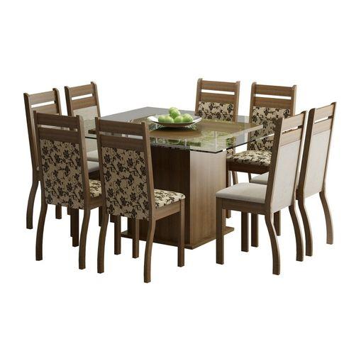 Conjunto-de-Mesa-com-Tampo-de-Vidro-e-8-Cadeiras-Rustic-Perola-Floral-Louise-Madesa-076950-1.jpg