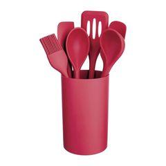Kit-Utensilios-de-Silicone---Suporte-7-Pecas-Vermelho-Euro-078376_P.jpg