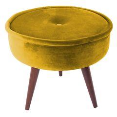 Puff-Amarelo-em-Veludo-45cm-com-Pes-de-Madeira-Mantis-079076.jpg