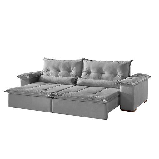 Super Sofa Retratil E Reclinavel 4 Lugares Cinza Em Suede 2 50Mtulsa Plus Pdpeps Interior Chair Design Pdpepsorg