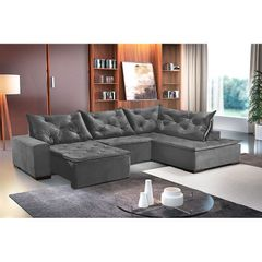 Sofa-Retratil-e-Reclinavel-5-Lugares-Chumbo-com-Chaise-Cleveland-1