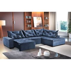 Sofa-Retratil-e-Reclinavel-5-Lugares-Azul-com-Chaise-Cleveland-1