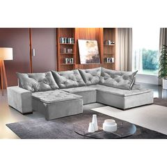 Sofa-Retratil-e-Reclinavel-5-Lugares-Cinza-com-Chaise-Cleveland-1