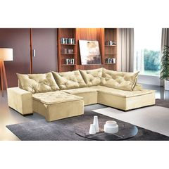 Sofa-Retratil-e-Reclinavel-5-Lugares-Creme-com-Chaise-Cleveland-1