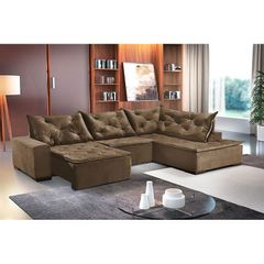 Sofa-Retratil-e-Reclinavel-5-Lugares-Marrom-com-Chaise-Cleveland-1