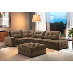 Sofa-5-Lugares-com-Chaise-Marrom-Portland-1