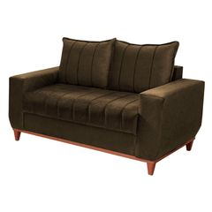 Sofa-2-Lugares-Marrom-Escuro-em-Veludo-150m-Esther