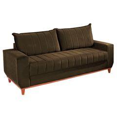 Sofa-3-Lugares-Marrom-Escuro-em-Veludo-2m-Esther