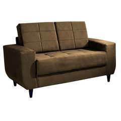 Sofa-2-Lugares-Marrom-Escuro-em-Veludo-150m-Class