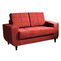 Sofa-2-Lugares-Vermelho-em-Veludo-150m-Class