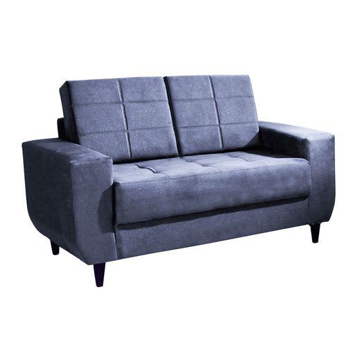 Sofa-2-Lugares-Azul-em-Veludo-150m-Class