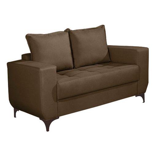 Sofa-2-Lugares-Marrom-Escuro-em-Veludo-150m-Jesse