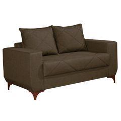 Sofa-2-Lugares-Marrom-Escuro-em-Veludo-150m-Enos