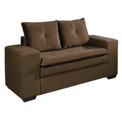 Sofa-2-Lugares-Marrom-Escuro-em-Veludo-160m-Lael