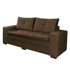 Sofa-3-Lugares-Marrom-Escuro-em-Veludo-210m-Lael