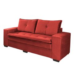 Sofa-3-Lugares-Vermelho-em-Veludo-210m-Lael