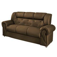 Sofa-3-Lugares-Marrom-Escuro-em-Veludo-190m-Abner