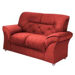 Sofa-2-Lugares-Vermelho-em-Veludo-154m-Tobias