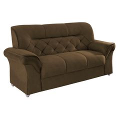 Sofa-3-Lugares-Marrom-Escuro-em-Veludo-194m-Tobias