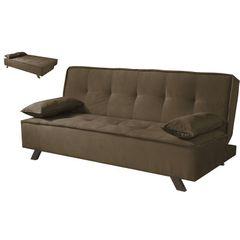 Sofa-Cama-3-Lugares-Marrom-Escuro-em-Veludo-190m-Sete