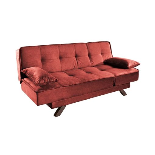 Sofa-Cama-3-Lugares-Vermelho-em-Veludo-190m-Ben