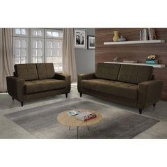 Sofa-2-Lugares-Marrom-Escuro-em-Veludo-150m-Class-1