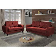Sofa-2-Lugares-Vermelho-em-Veludo-150m-Class-1
