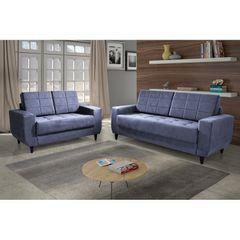 Sofa-2-Lugares-Azul-em-Veludo-150m-Class-1