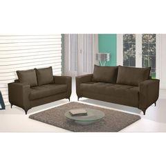 Sofa-2-Lugares-Marrom-Escuro-em-Veludo-150m-Jesse-1