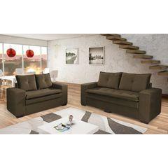 Sofa-2-Lugares-Marrom-Escuro-em-Veludo-160m-Lael-1