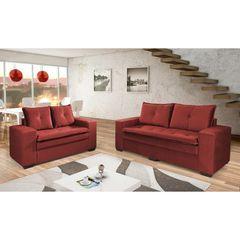 Sofa-2-Lugares-Vermelho-em-Veludo-160m-Lael-1