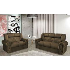 Sofa-2-Lugares-Marrom-Escuro-em-Veludo-150m-Abner-1